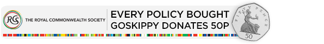 Every policy bought GoSkippy Donates 50p