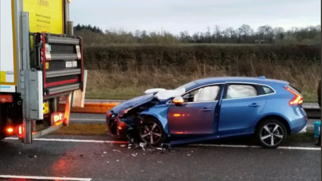 New car crashes after driver failed to read handbook
